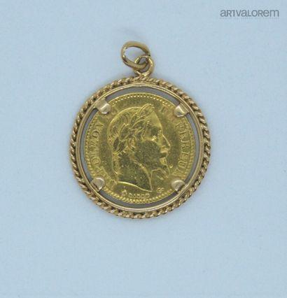 10 francs or, Napoléon III, tête laurée,...