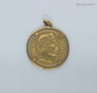 20 francs or, Napoléon III tête laurée, 1868,...
