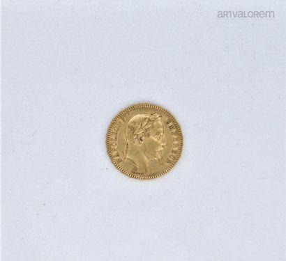 20 francs or , Napoléon III tête laurée,...