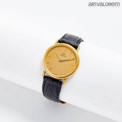 OMEGA  Montre bracelet en or jaune 750°/°°,...