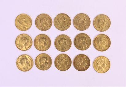 Quinze 20 francs or, Cérés, Napoléon tête...