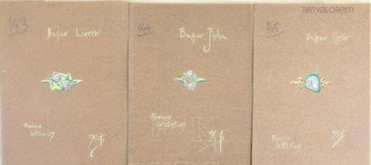 Maurice FOURAIN (XIX°-XX°Siècle)  Trois dessins...