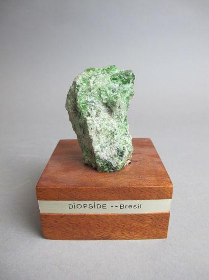 Cristal de Diopside du Brésil  H. 8 cm  Sur...