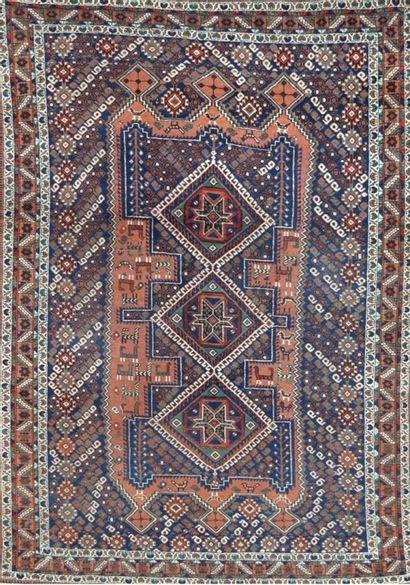 Afchar (Iran) vers 1970.  Velours en laine...