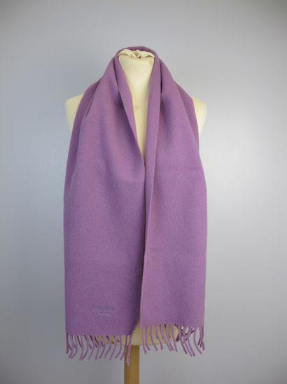 BALMAIN Paris  Echarpe en laine violette...