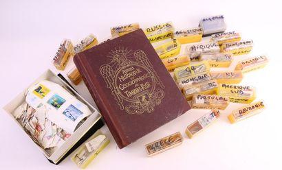 TOUS PAYS : Petit lot de timbres oblitérés,...