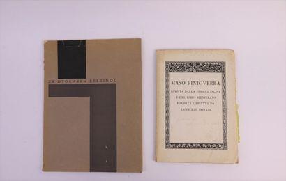 Lot de 2 ouvrages comprenant :  - Maso Finiguera,...