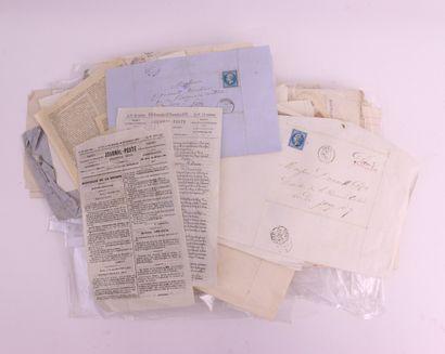 FRANCE : Petit lot de lettres affranchies...