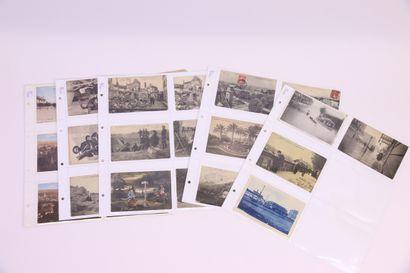 Lot d'une quarantaine de cartes postales:...