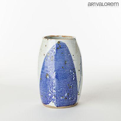 KANNO Mami (XXe-XXIe)  Vase ovoïde en grès...