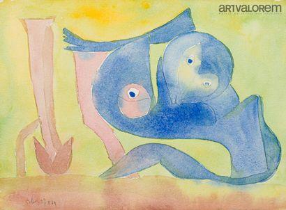 SILVA Julio (1930-2020)  Animaux fantastiques...