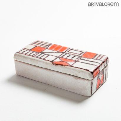 GUIDO GAMBONE (1909-1969)  Boîte rectangulaire...
