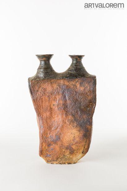 BROSSARD Gérard (né en 1950)  Vase rectangulaire...