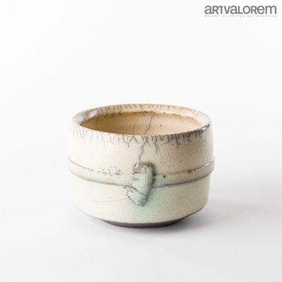 ASTOUL Eric (né en 1954)  Vase cylindrique...