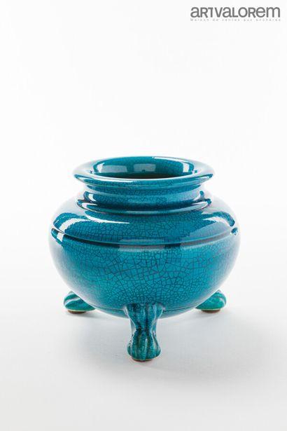 POL CHAMBOST (1906-1983)  Vase balustre à...