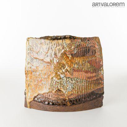 CHOLLET Jean-Pierre (né en 1939)  Vase rectangulaire...