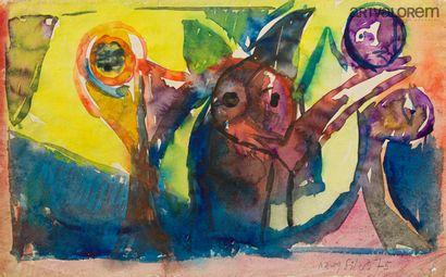 SILVA Julio (1930-2020)  Scène animée d'êtres...