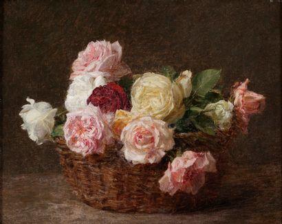 Victoria DUBOURG (1840-1926)  Corbeille de...