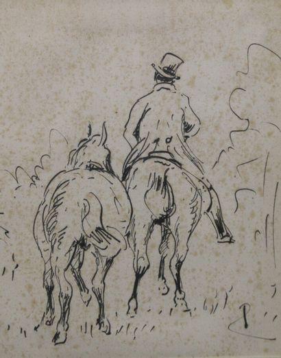 René PRINCETEAU (1843-1914)  Cavalier et...