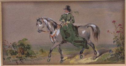 Franz Xaver von PAUSINGER (1839-1915)  L'amazone...
