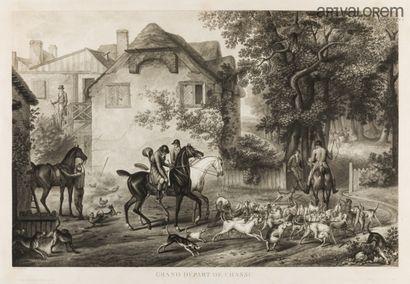 D'après Carle VERNET (1758-1835)  Grand départ...