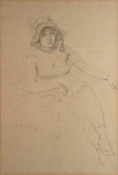 Emile FRIANT Émile (1863-1932)  Femme au...