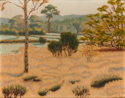 Charles LACOSTE (1870-1959)  Paysage aux...