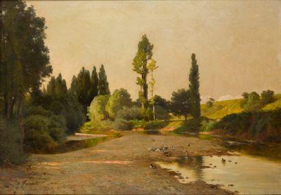 Antonin FANART (1831-1903)  Bras mort de...