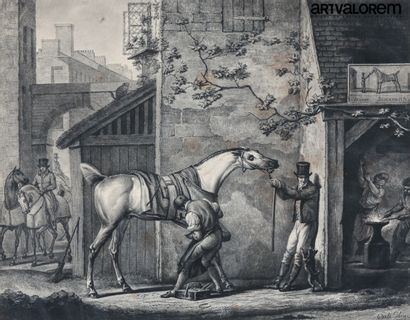 Carle VERNET (1758-1835) gravé par Coqueret...