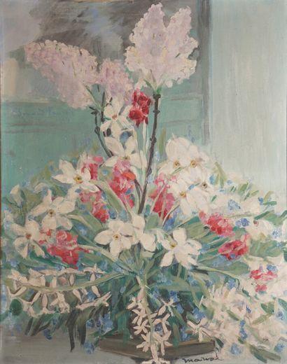 Jacqueline MARVAL (1866-1932)  Bouquet aux...