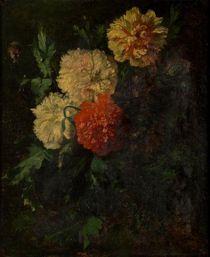 Paul LEMARIEE (1836-?)  Bouquet de pivoines...