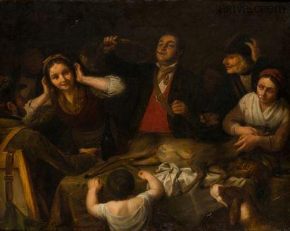 Edmé-Jean PIGAL (1798-1872)  Le retour de...