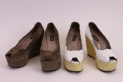 SONIA RYKIEL  Deux paires d'escarpins en...