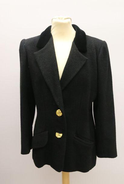 YVES SAINT LAURENT  Veste en lainage noir...