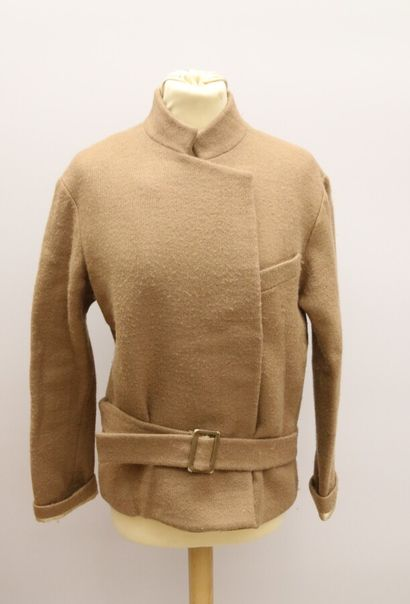 VANESSA BRUNO  Veste en laine beige-marron,...