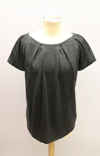 CHRISTIAN DIOR  Top en jersey gris  Taille...