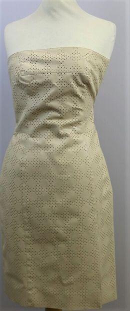 GIVENCHY Vision  Robe bustier en simili cuir...