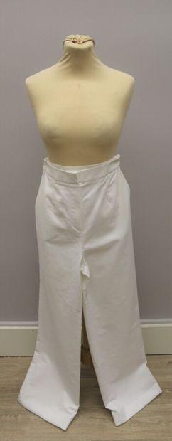 PAULE KA  Deux pantalons en coton mélangé,...