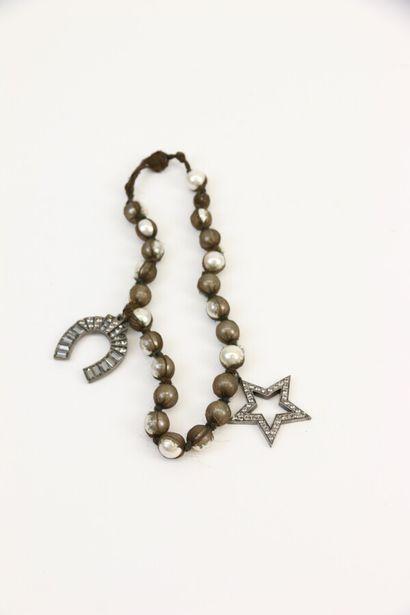 LANVIN  Collier de perles blanches d'imitation...