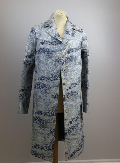 CELINE  Manteau en coton et soie mélangé...