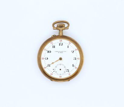 UNIC Chronomètre  Montre de poche en or jaune...