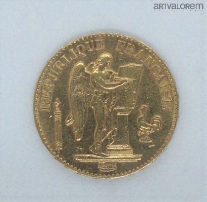 France, 10 francs or. 1897.  Poids : 6,5...
