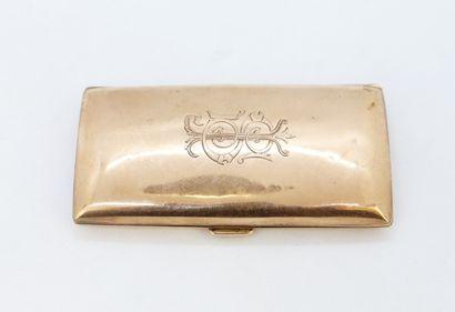 Etui à cigarette en or rose 375°/°° de forme...