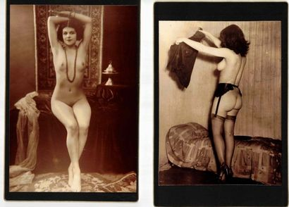 Charme, érotisme, études de nu. Circa 1920-50....