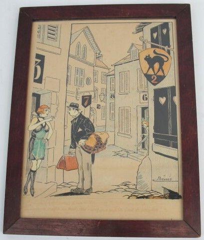 D'après André BENIC (1889-?)  Scène de rue...