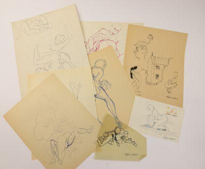 François D'ALBIGNAC (1903-1958)  Huit dessins...