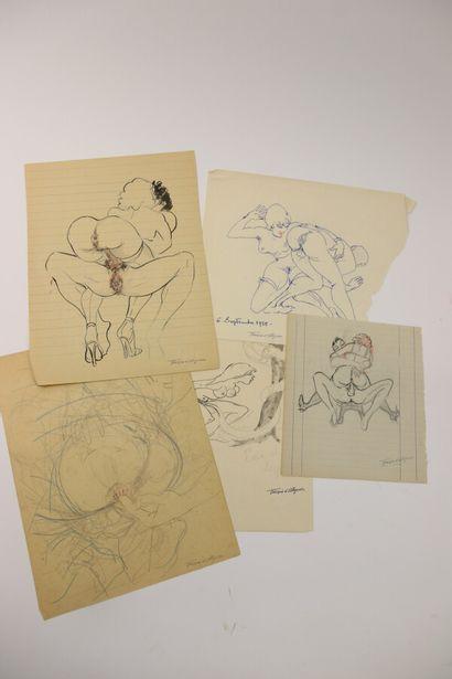 François D'ALBIGNAC (1903-1958)  Cinq dessins...