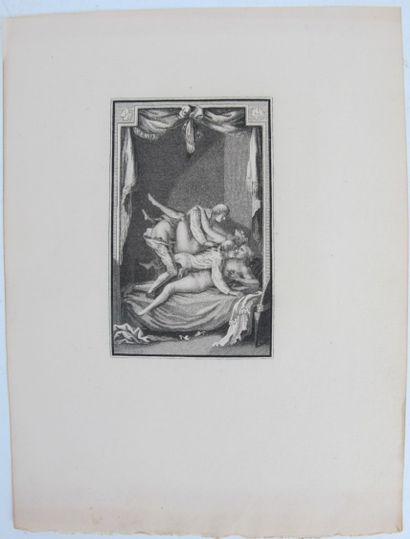 Neuf gravures érotiques du XVIIIe siècle....