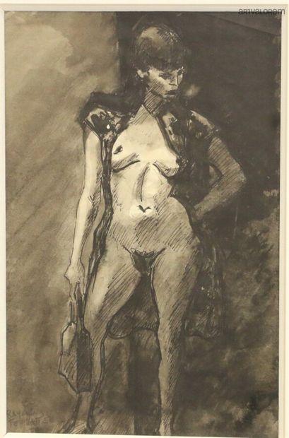 Raymond FEUILLATE (1901-1971)  Prostituée,...