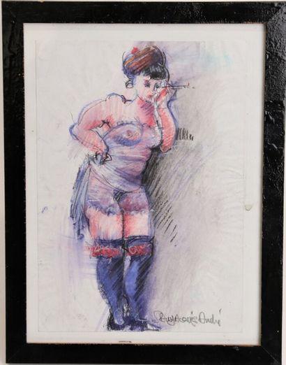 André SAINT-JACQUES XXème siècle  Prostituée,...